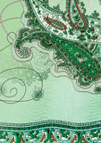 Grüner Paisley-Hintergrund lizenzfreie abbildung
