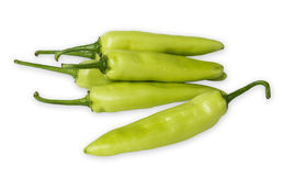 Grüner Paprika lokalisiert auf einem Weiß Stockfotos