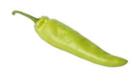 Grüner Paprika lokalisiert auf weißem Hintergrund Lizenzfreies Stockbild