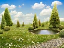 Grüner Park lizenzfreies stockbild