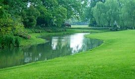 Grüner Park Lizenzfreie Stockfotografie