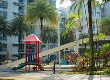 Grüner Park der Wohnung Stockbilder