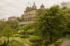 Grüner Park in Edinburgh lizenzfreie stockfotografie