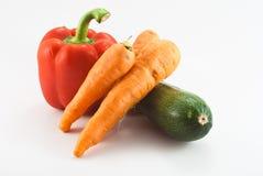 Grüner Pfeffer, carots und Zucchini Lizenzfreies Stockfoto