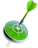 Grüner Pfeil Stockfoto