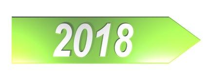 Grüner Pfeil 2018 - Wiedergabe 3D lizenzfreie abbildung