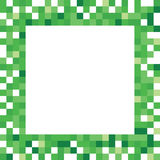 Grüner Pixel-Rahmen Lizenzfreies Stockfoto