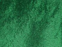 Grüner Plüschkunststoff der Beschaffenheit Stockbilder