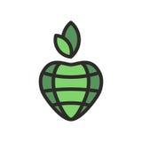 Grüner Planet der Liebe Lizenzfreies Stockfoto