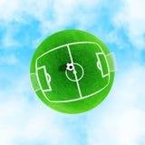 Grüner Planet des Fußballs Stockbild