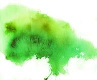 Grüner Punkt, Aquarellhintergrund Lizenzfreies Stockfoto