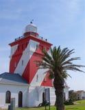 Grüner Punkt-Leuchtturm in Cape Town Stockbilder