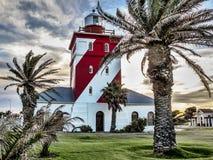 Grüner Punktleuchtturm in Cape Town Lizenzfreies Stockbild