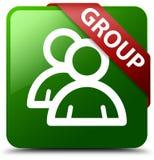 Grüner quadratischer Knopf der Gruppe Lizenzfreies Stockfoto