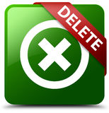 Grüner quadratischer Knopf der Löschung Lizenzfreie Stockfotografie