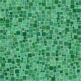Grüner quadratischer Mosaik-Hintergrund Stockfotografie