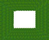 Grüner quadratischer Rahmen von den Blättern Lizenzfreies Stockbild
