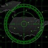 Grüner Radarschirm über USA vektor abbildung
