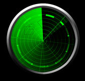Grüner Radarschirm Stockfotos