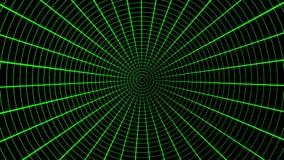 Grüner Radarschirm, Flugverkehr Nahtlose Schleife Schwarzer Schirm mit grünem Scanner vektor abbildung