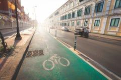 Grüner Radweg Lizenzfreie Stockbilder