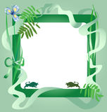 Grüner Rahmen Stockfotografie