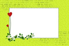 Grüner Rahmen für ein Foto stock abbildung