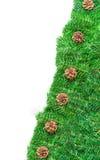 Grüner Rahmen für Weihnachten trennte lizenzfreies stockbild