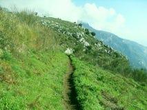 Grüner Rasen auf dem Berg Faito in Italien lizenzfreie stockfotos