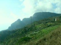 Grüner Rasen auf dem Berg Faito in Italien lizenzfreie stockfotografie