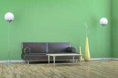 Grüner Raum mit einem Sofa Lizenzfreie Stockfotos