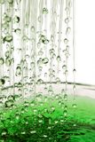 Grüner Regen Stockbild