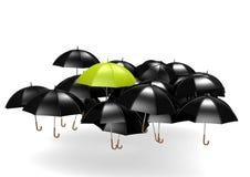 Grüner Regenschirm Lizenzfreie Stockfotografie