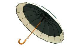 Grüner Regenschirm auf weißem Hintergrund Lizenzfreie Stockfotos