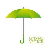 Grüner Regenschirmvektor lizenzfreie abbildung