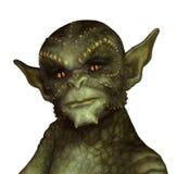 Grüner Reptilian-Ausländer Stockfotos