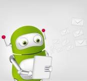 Grüner Roboter Stockfoto