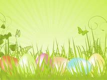 Grüner ruhiger Ostern-Hintergrund Lizenzfreie Stockbilder