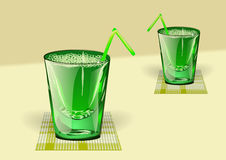 Grüner Saft Stockbild