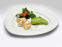 Grüner Salat in der Platte Lizenzfreies Stockbild