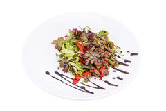 Grüner Salat mit beff Stockfotos