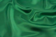 Grüner Satin Stockfoto