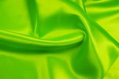 Grüner Satin Lizenzfreie Stockfotos