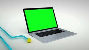 Grüner Schirm der mehrfachen Geräte stock video footage