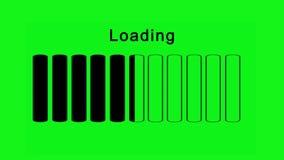 Grüner Schirmeffekt der Ladenstangen horizontal - stock abbildung