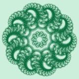 Grüner Schlag Vier Arten Abwischen für die Hauptverzierung Lizenzfreies Stockbild