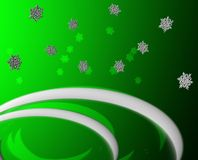 Grüner Schnee-Gruß Stockbild