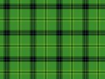 Grüner schottischer Tartan Stockfotografie