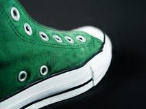 Grüner Schuh Stockfotografie