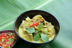 Grüner Schweinefleisch Curry stockfotografie